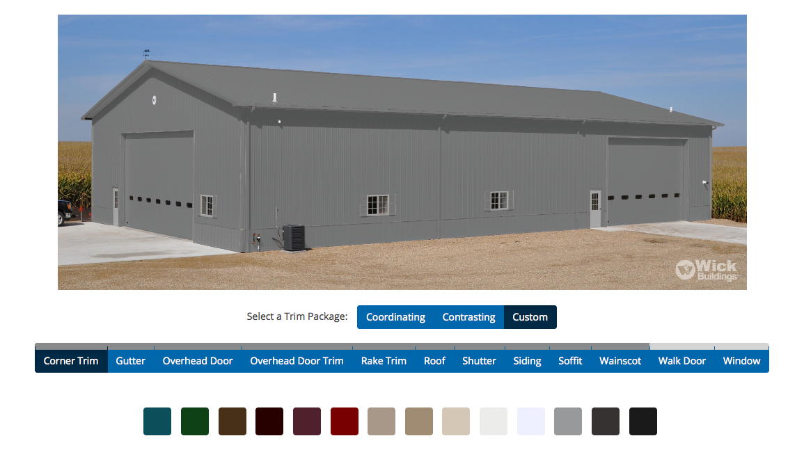 Select your building Colors Online